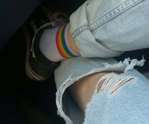aesthetic, rainbow, and socks image