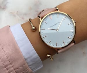 watch and rose gold image
