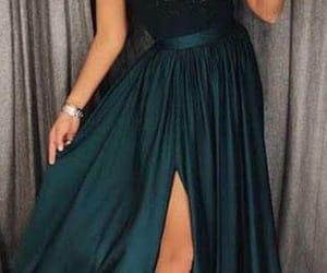 dress, elegant, and Prom image