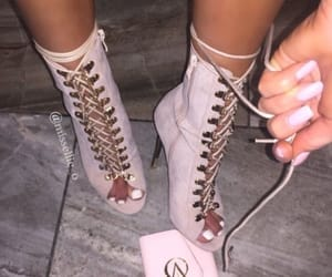 fashion, oink heels, and pink shoes image