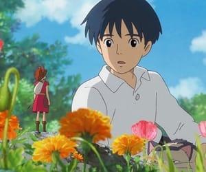 anime, studio ghibli, and flowers image