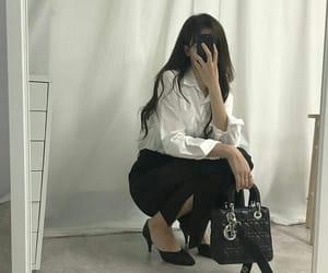 asian fashion, korean fashion, and white image