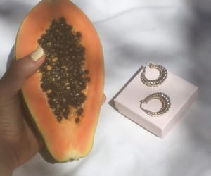 accessories, earrings, and fruit image