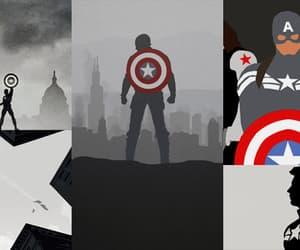 black, captain america, and chris evans image