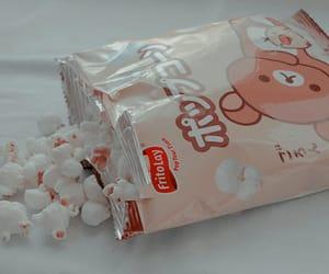 food, popcorn, and rilakkuma image
