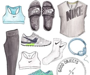 fitness, nike woman, and nike fitness image