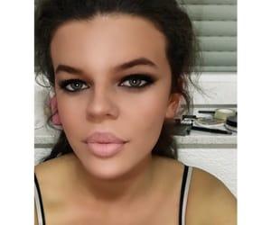 cosmetics, full lips, and girl image