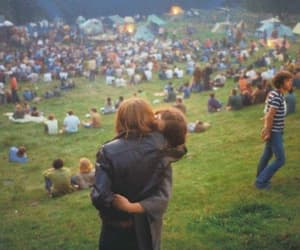 love, couple, and woodstock image