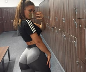 booty, fit, and girl image