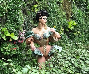 flowers, violet chachki, and green image