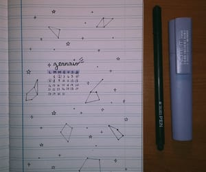 aesthetic, constellation, and diary image