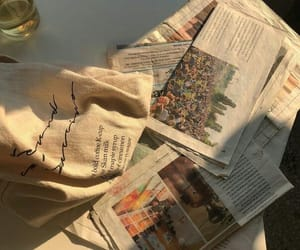 aesthetic, newspaper, and beige image