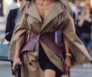 fashion, street fashion, and trenchcoat image