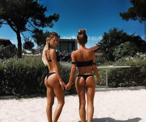 beach, best friends, and style image