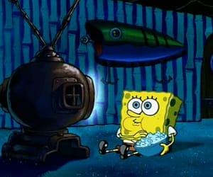 spongebob, tv, and popcorn image