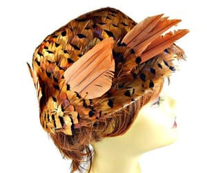 etsy, feather hat, and vintage image