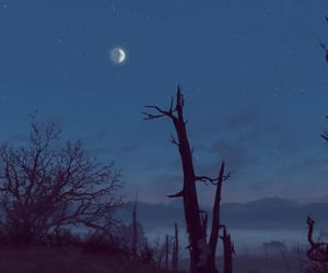 blue, dark, and fallout image