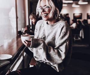 blonde, cafe, and coffee image