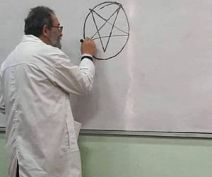 666, hell, and pentagram image