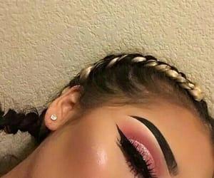 braids, girl, and eyes image