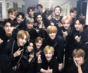 black on black, kpop, and nct 2018 image
