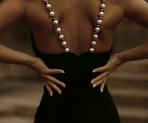 fashion, pearls, and dress image