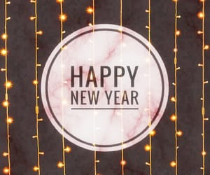 happy new year, lights, and wallpapers image