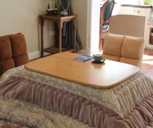 blanket, table, and cozy image