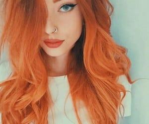 hair, orange hair, and style image