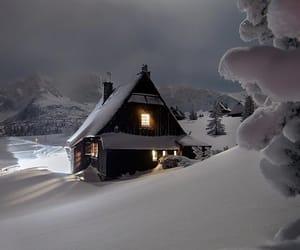 christmas, snow, and house image