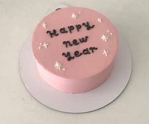 cake, food, and happy new year image