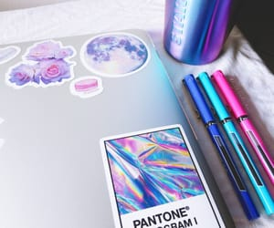 aesthetic, blue, and pantone image
