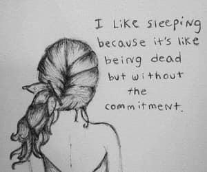 dead, sleep, and sleeping image
