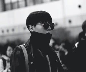 black and white, kpop, and j-hope image