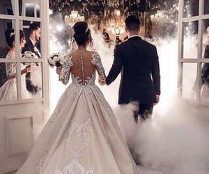 bride, wedding, and bride dress image