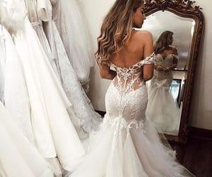 wedding, girl, and wedding dress image