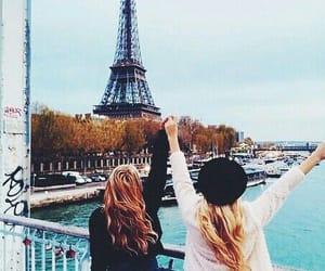 paris, friends, and travel image