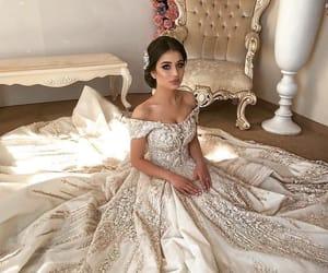beautiful, beauty, and wedding dress image