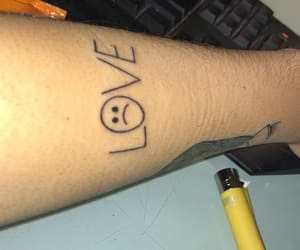 peep, tattoo, and love tattoo image