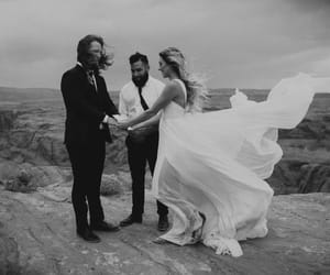 black&withe, bride, and couple image