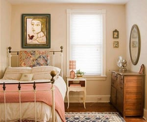 bedroom, room, and vintage image