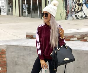 adidas, bag, and beanie image