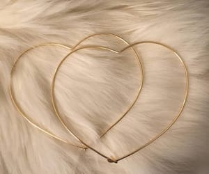 heart, gold, and earrings image