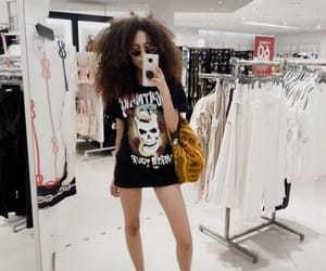 Afro, curly, and girl image