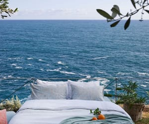 ocean, bed, and sea image