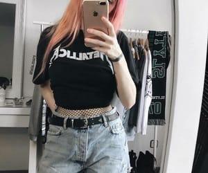 black, metal, and clothing image