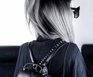 accesories, backpack, and black image