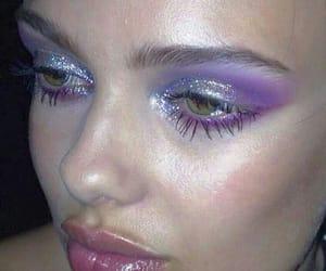 makeup, purple, and art image