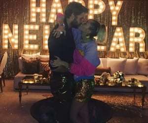 happy new year, miley cyrus, and true love image