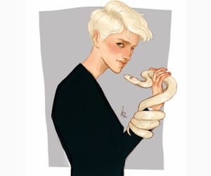 harry potter, snake, and draco image